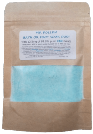 Mr Pollen Essential Oil Aromatherapy Fizzy Dust Soak with 12.5mg CBD